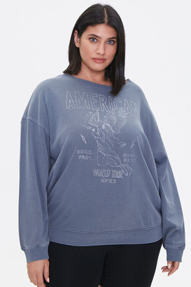 Forever 21 Plus Size American Graphic Sweatshirt