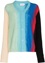 Thumbnail for your product : Charles Jeffrey Loverboy Homefront striped cardigan
