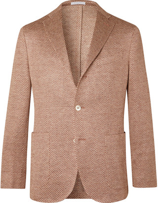 Boglioli K-Jacket Slim-Fit Linen-Herringbone Blazer