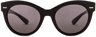 Oliver Peoples x The Row Georgica Sunglasses in Black | FWRD