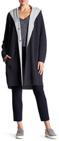Vince Double Face Wool Blend Hooded Coat