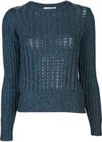 Carven Tweed Crewneck Sweater