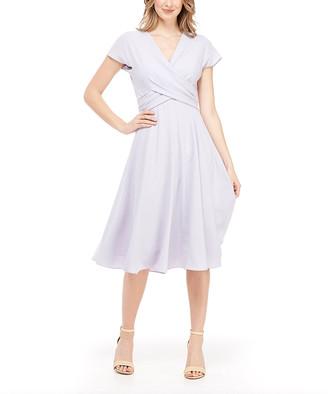 Gal Meets Glam Women's Casual Dresses SOFT - Soft Lavender Seraphina Crisscross Tie-Back A-Line Dress - Women & Juniors