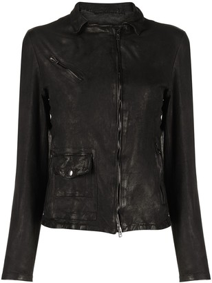 Salvatore Santoro Zip-Up Leather Jacket