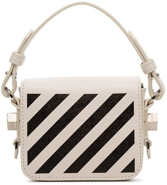 Off-White Baby Flap diagonal-stripe shoulder bag