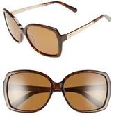 Kate Spade Women's 'Darilynn' 58Mm Polarized Sunglasses - Havana/ Brown Polar