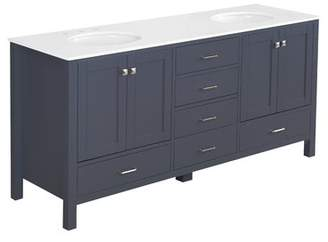 "Three Posts Cheshunt Full Cabinet 72"" Double Bathroom Vanity Set"