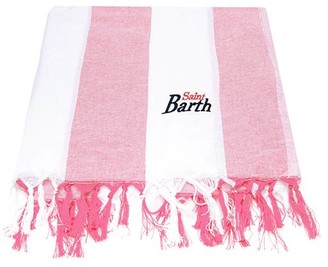 MC2 Saint Barth Pink Big Striped Ultralight Cotton Towel