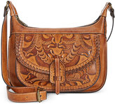 Patricia Nash Burnished Tooled Camila Double-Zip Crossbody