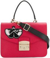 Furla butterfly applique handbag