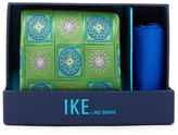 Ike Behar Charles Neat Silk Tie & Handkerchief