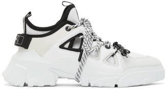 McQ White Orbyt Mid Low Top Sneakers