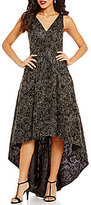 Calvin Klein Embroidered Soutache Hi-Low Dress