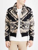 Ralph Lauren Purple Label Geometric-pattern wool and cashmere-blend jacket