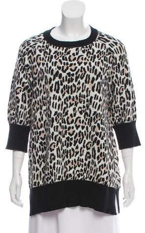10C x Athleta Animal Print Crew Neck Sweater