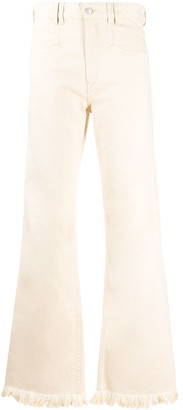 Isabel Marant Frayed-Hem Flared Jeans