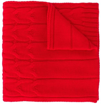 Moncler Enfant TEEN cable-knit ribbed scarf