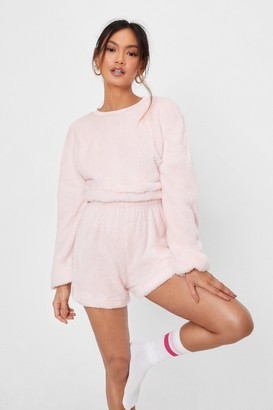 Nasty Gal Womens So Borg of You Petite Shorts Lounge Set - Pink - 6, Pink