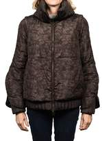 Moncler Fiest Padded Down Jacket Brown Women's.