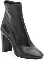 Prada Leather Block-Heel Booties