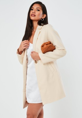 Missguided Cream Ultimate Formal Coat
