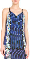 Mary Katrantzou Racerback Mixed-Print Camisole, Snuffbox/Blue