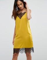 Asos Lace Mini Insert Slip Dress