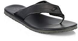 Saks Fifth Avenue Perforated Leather Flip Flops