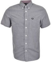 Fred Perry Classic Gingham Shirt Black