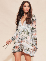 For Love & Lemons Luciana Swing Dress in Ivory Floral