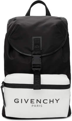Givenchy Black Glow-In-The-Dark Pocket Logo Backpack