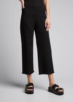 Akris Punto Minata Fringed Japanese Denim Tube Pants