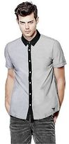 GUESS Men's Genaro Short-Sleeve Poplin Shirt