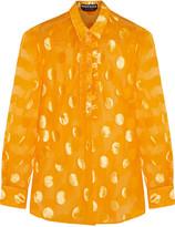 Rochas Devoré-chiffon shirt