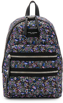 Marc Jacobs Garden Paisley Printed Biker Backpack in Black.