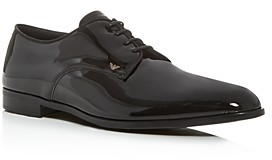 Giorgio Armani Men's Patent Leather Plain-Toe Oxfords