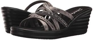 Skechers Rumbler Wave - New Lassie (Pewter) Women's Shoes