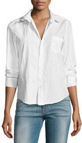 Frank And Eileen Barry Buttoned Poplin Shirt, White