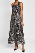 Roland Mouret Fil-Coupé One-Shoulder Dress with Silk