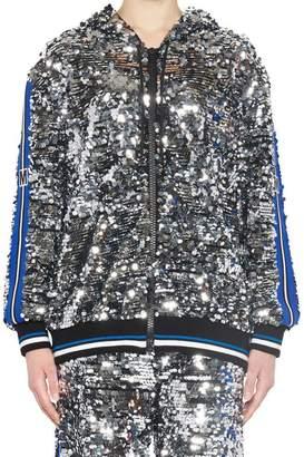 MSGM Sequinned Hooded Jacket