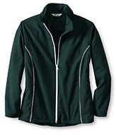 Classic Little Girls Piped Athletic Jacket-Green Biscay