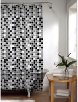 Bed Bath & Beyond Tiles Shower Curtain in Black/White