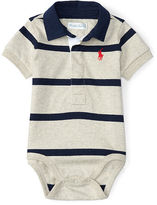 Ralph Lauren Striped Cotton Polo Bodysuit