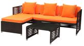 Safavieh Pescatore Sofa Outdoor Living Set (3 PC)
