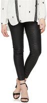 Vigoss Maternity Maternity Skinny Jeans, Coated Black Wash