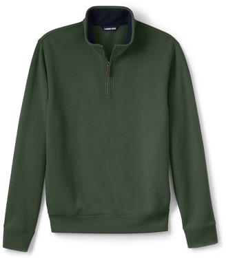 Lands' End Big & Tall Bedford Quarter-Zip Sweater
