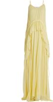 Elizabeth and James Catriona V-neck sleeveless silk-crepon gown