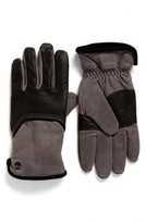 Timberland Men's Leather & Canvas Gloves