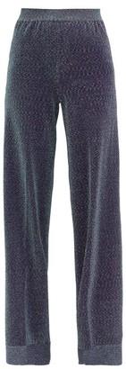 Missoni High-rise Lurex Wide-leg Trousers - Blue