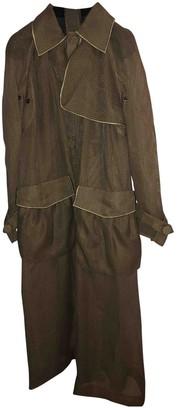 Fendi Khaki Silk Coat for Women